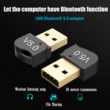 Bluetooth 5.0 USB High Speed Adapter Wireless Dongle Receiver for PC Win 10 8/XP