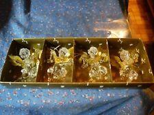 NIB 4 Acrylic Metal Angel Ornaments NOEL  JOY  Instruments