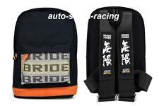 JDM Bride Racing Backpack With MUGEN Racing Harness Shoulder Black straps