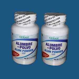 Alum Powder 3 oz USP For feet/body odor control. Alumbre en Polvo QTY-2