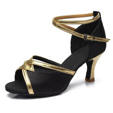Women Girl lady's Ballroom Tango Latin Dance Dancing Shoes heeled Salsa 4 Colors