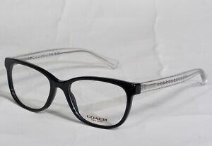 NEW COACH HC6072 5327 (BLACK GLITTER CRYSTAL) EYEGLASSES RX 52[]17-135