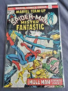 MARVEL TEAM-UP #17 FEATURING SPIDERMAN, BRONZE AGE MARVEL COMIC BOOKS