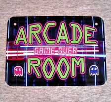 Metal Sign ARCADE ROOM video games penny coin operated gamer gaming machine