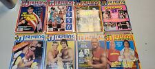 Vintage 1980-90s Pro Wrestling Magazine Lot 1 Pro Wrestling Illustrated 8 Issues