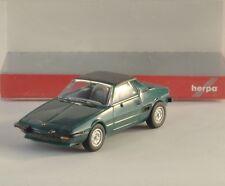 HERPA Fiat X1/9 modello auto VERDE scuro per Plastico carro bisarca H0 1:87