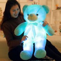 30/50cm LED Bear Plush Toy Stuffed Animal Light up Glowing Toy Valentine's Gift