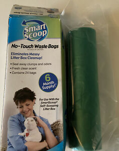 Scoop No Touch Cat Litter Poo Bags Waste Bags X 24 Per Box