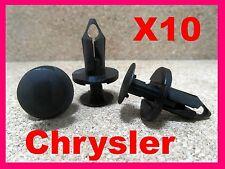 10 Chrysler Motor Undertray Träger Befestigung Halteklammern