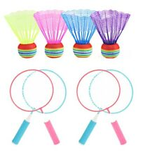 4 Players Portable Outdoor Badminton Rackets Net Set Exercise Sports Tool System