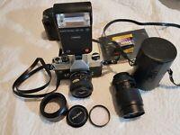 Appareil Photo Fujica ST801 avec 2 Objectifs EBC Fujinon W 1:2.8 f= 35mm