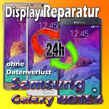 24 St. Samsung Galaxy NOTE 4 Display Reparatur Glas Displayglas Austausch Weiß