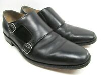 Cole Haan Black Double Monk Strap Loafers Size 10M Mens Shoes Made In India