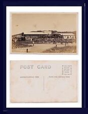 PHILIPPINES OLONGAPO US MARINE CORPS FUNERAL REAL PHOTO VELOX BACK CIRCA 1908