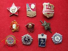 10 Stück-Set Sammlung Abzeichen Pionier Sport Armee Polizei Anti Alkohol UdSSR