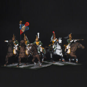 Tin soldier, Set of French Dragoons of the 23rd Regiment, 54 mm
