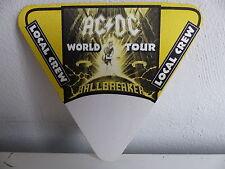 Patch AC DC Pass Local crew jaune  Ballbreaker world tour