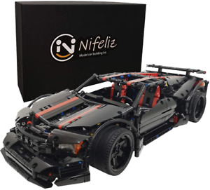 Nifeliz Sports Car X19 MOC Technique Building Blocks and Engineering Toy, Adult