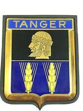 Vintage TANGER Drago Paris Enameled Grill Car Badge Gilt Metal Rubber FREE SHIP