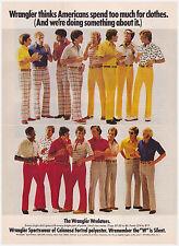 Original 1974 Wrangler Sportswear Vintage Print Ad