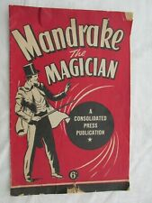 Mandrake the Magician Large Comic Consolidated Press Nugget Shoe Advertising