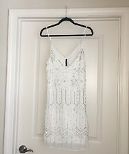 Sexy New W11 by Walter Baker Gorgeous Stunning White Straps Sequin Dress Size 4