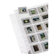 """Hama 2014 35mm Mounted Slide Storage Pages 2""""x2"""" Pack 12 Sheets 5x5cm"""