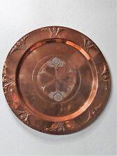Antike Kupfer Platte Teller Jugendstil Wandteller WMF Straussenmarke um 1900