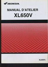 (27B) REVUE TECHNIQUE MANUEL ATELIER MOTO HONDA XL650V (additif)