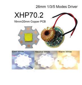 Cree 6V XHP70.2 29W 4292LM White LED Emitter Bulb 16mm / 20mm PCB + LED Driver