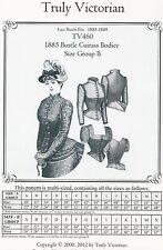 Motivi di sezione truly Victorian TV 460: 1885 CUIRASS bodice, MIS. B