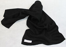HBLK  NWT Gorgeous Black Color Knitted 100% Pashmina Scarf Handmade In Nepal