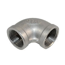 """304 Stainless Steel 3/4"""" Elbow 90 Degree Angled Pipe Fitting Female Threaded BSP"""