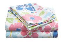 TWIN  - Tommy Hilfiger 100% Cotton Malibu Flowers & Butterflies SHEET SET
