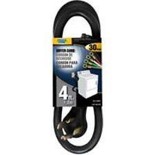 NEW POWER ZONE 4560926 DRYER CORD 4 FOOT BLACK 10/4 SRDT 30 AMP 4 PRONG SALE