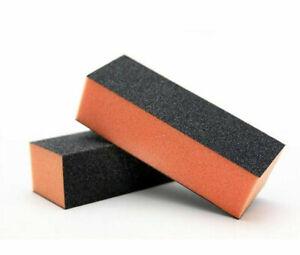 The Edge NAIL BUFFER ACRYLIC SANDING BLOCK FILES ORANGE 100/180 Grit