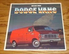 Original 1981 Dodge Ram Van Deluxe Sales Brochure 81