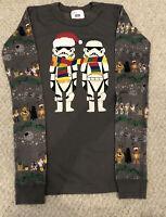 Hanna Andersson Size 14 Euro 160 Star Wars Christmas Pajama TOP ONLY EUC