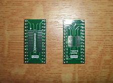 5x SMD Adapterplatine SO28 (1,27mm) / SOP28 (0,65mm) auf DIP28 Industriequalität