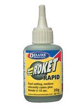 Dlxad044-Deluxe materiales Roket cianoacrilato Gama-Rapid 20g