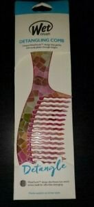 (3)The Wet Brush Detangling Wet Comb Stained Glass Collection~New