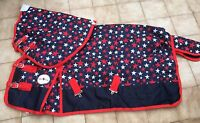 """BLUE STAR 600D MEDIUM WEIGHT 220GM TURNOUT RUG WITH NECK 4'9"""" TO 7'0"""""""