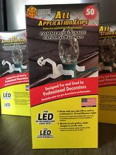 Commercial Grade Lighting Hardware, Shingle/Gutter clips LED/Incandescent Lights