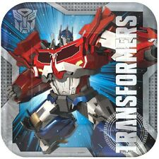 "TRANSFORMERS PARTY SUPPLIES 9"" SQUARE DINNER PLATES PACK OF 8 NEW DESIGN"
