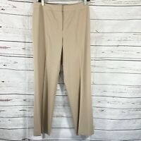 Lafayette 148 Womens Size 6 Straight Leg Dress Pants Wool Blend Tan Career