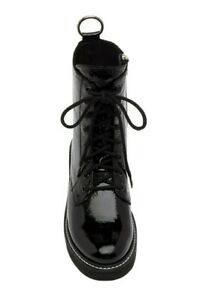 Steve Madden Patent Combat Lace Up Boots