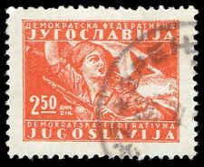 Scott # 211 - 1947 - ' Partisan Girl & Flag '