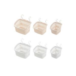 Plastic Hanging Shower Basket with Hook for Bathroom Kitchen Storage Organizer