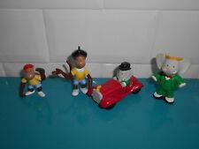 Lot 4 figurines et voiture Plastoy BABAR singe Brunhoff  4 à 6cm