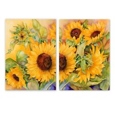2Pcs Sunflowers Art Oil Painting Canvas Print Wall Picture Home Decor 20x28CM